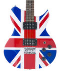Electric Guitar Body with British Flag Royalty Free Stock Photos