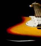 Electric guitar body fine detail Royalty Free Stock Photography