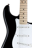 Electric guitar body isolated over white background Royalty Free Stock Photos