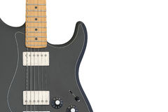 Electric guitar body isolated on white background. Royalty Free Stock Photography