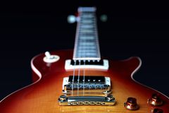 Electric Guitar Bridge Pick Up, Pots and Strings stock image