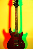 Electric guitar on a bright background Royalty Free Stock Photos