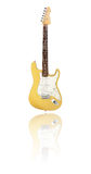 Electric guitar butterscotch blonde Royalty Free Stock Image