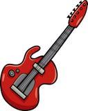 Electric guitar cartoon clip art Royalty Free Stock Photos