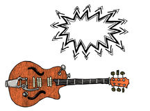 Electric guitar-100 Royalty Free Stock Images