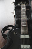 Electric guitar in the case Stock Images