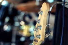 Electric guitar and classic amplifier background Royalty Free Stock Photo
