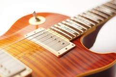 Electric guitar close-up. Close-up photography Stock Photos