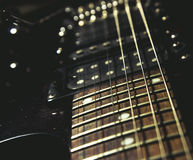 Electric guitar close up Royalty Free Stock Images