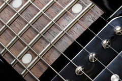Electric guitar close-up. Neck and humbucker picku Stock Image
