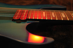 Electric Guitar Closeup Royalty Free Stock Photos