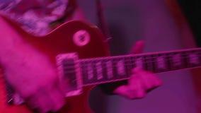 Electric guitar closeup stock video footage