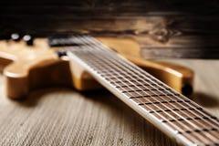 Electric guitar closeup Stock Image