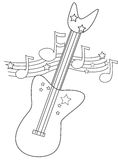 Electric guitar coloring page Royalty Free Stock Photos