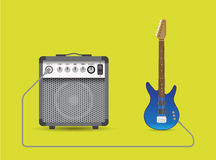 Electric guitar and combo Royalty Free Stock Photo
