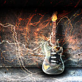 Electric guitar concept Stock Photography