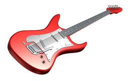 Electric Guitar . 3D image. My own design. 3D image Royalty Free Stock Photo