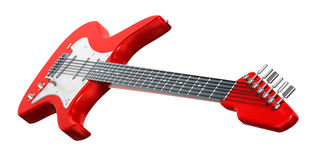 Electric Guitar . 3D image. My own design Stock Images