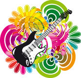 Electric guitar design Stock Image