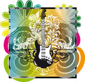 Electric guitar design Royalty Free Stock Images