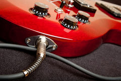 Electric Guitar Detail Stock Photo