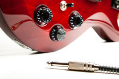 Electric Guitar Detail Stock Photos