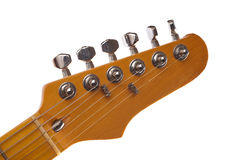 Electric Guitar Details. Details of electric guitar isolated on white background Stock Photo