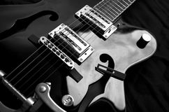 Electric guitar. Electric electro acoustic guitar detail Stock Photos
