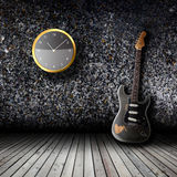Electric guitar in the empty room Royalty Free Stock Photography
