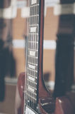 Electric guitar fingerboard Royalty Free Stock Photo
