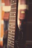 Electric guitar fingerboard Stock Image