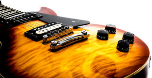 Electric flame guitar on white Stock Image