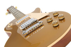 Electric Guitar (Gibson Les Paul Gold Top) Stock Photo