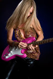 Electric Guitar Girl Stock Image