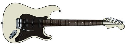 Electric guitar. Hand drawing of a electric guitar of type stratocaster - the guitar is not a real type Royalty Free Stock Photos