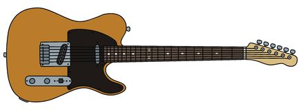 Electric guitar. Hand drawing of a electric guitar of type telecaster - the guitar is not a real type Royalty Free Stock Photo