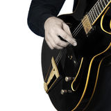 Electric Guitar hands closeup Royalty Free Stock Image