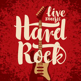 Electric guitar and Hard Rock Royalty Free Stock Photos