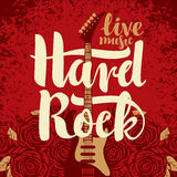 Electric guitar and Hard Rock Stock Image