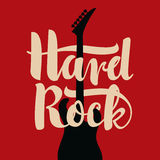 Electric guitar and Hard Rock Royalty Free Stock Images