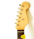 Electric guitar head. Close up of a vintage electric guitar head Stock Photography