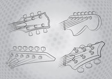 Electric Guitar Head Stock Image