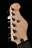 Electric guitar headstock Royalty Free Stock Image