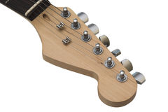 Electric guitar headstock with clipping path. Stock Image