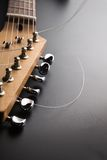 Electric guitar. Headstock and tuning machines Royalty Free Stock Photo