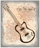 Electric guitar icon Stock Image