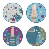 Electric guitar icons. Set of icons on a theme electric guitar Stock Photography