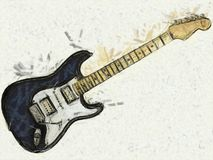 Electric Guitar Illustration Stock Photo
