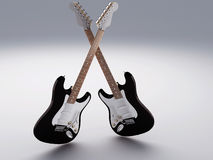 Electric Guitar. Image of Electric Guitar. 3D illustration Stock Images