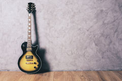 Electric guitar in interior Royalty Free Stock Image